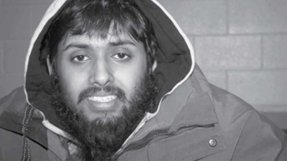 Kevin Omar Mohamed is shown in this image taken for a student newspaper at the University of Waterloo, in February of 2015. (The Iron Warrior)