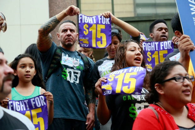Workers in Los Angeles rally