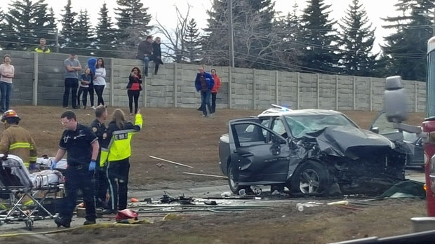 Fatal Crash Closes Sections Of Glenmore Trail And