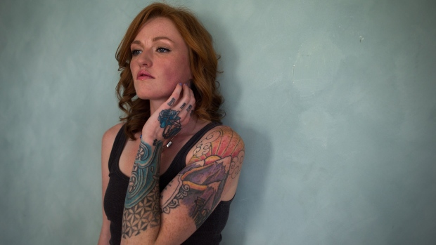 Tattoo artist Auberon Wolf
