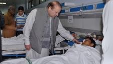 Pakistan's Prime Minister visits bombing victim