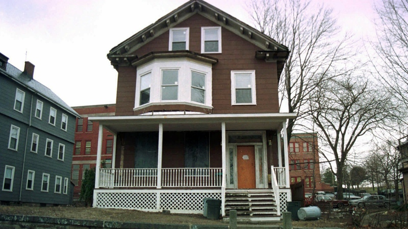 The house where slain African-American leader Malcolm X spent part of his childhood, in the Roxbury section of Boston, is seen on March 10, 1998. (AP / Angela Rowlings)