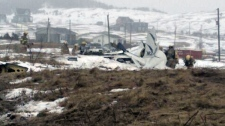 A small plane crashed on the Iles de la Madeleine
