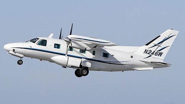 The plane was a Mitsubishi MU2 registered in the U.S.