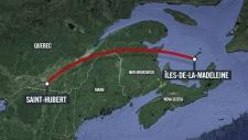 Scene of small plane crash in Quebec
