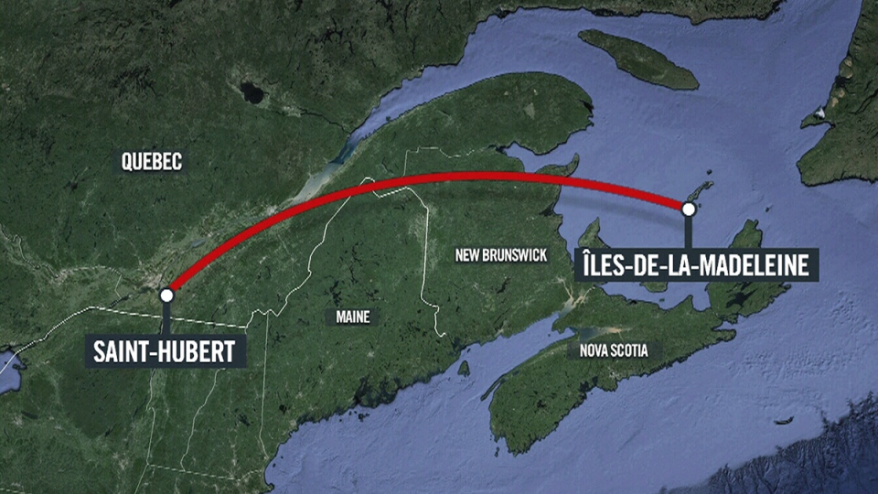 A small plane has crashed in the Iles-de-la-Madeleine just off eastern Quebec. (Google Maps)