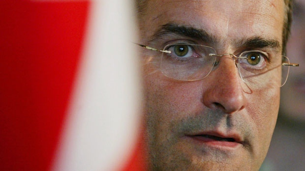 Former federal transport minister Jean Lapierre fields questions after a speech in Halifax on Friday, August 5, 2005. THE CANADIAN PRESS/Andrew Vaughan