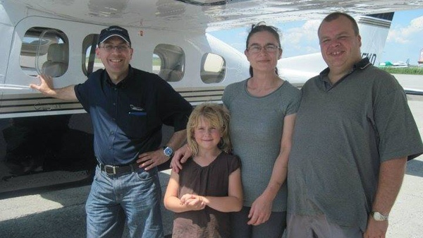 Carole Williams shared this photo of pilot Pascal Gosselin, taken several years ago