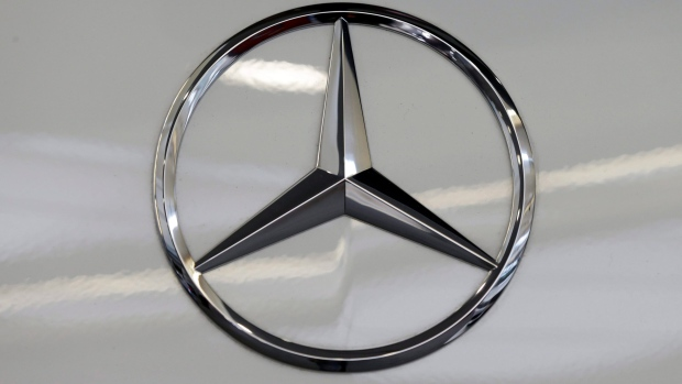 A Mercedes logo is shown on Nov. 4, 2015. (Gene J. Puskar / AP)