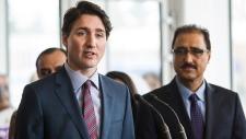 Prime Minister Justin Trudeau speaks in Edmonton