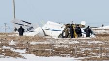 NTSB investigators at plane crash scene in Quebec