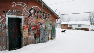 An abandoned house is shown on the Pikangikum First Nation, Friday, January 5, 2007. THE CANADIAN PRESS/John Woods