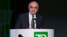 Bharat B. Masrani,the chief executive of TD Bank, speaks at their annual meeting in Montreal Thursday, March 31, 2016. (Peter McCabe / THE CANADIAN PRESS)