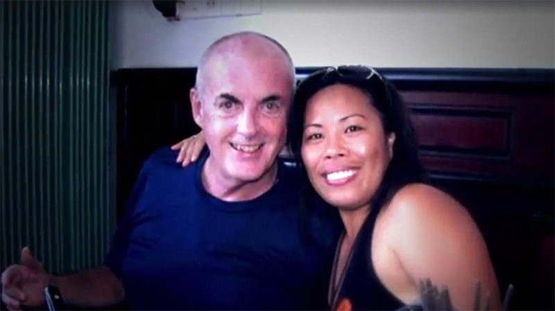 Harry Doyle with his widow, Jane Doyle, who is one or four people charged in his death (Facebook).