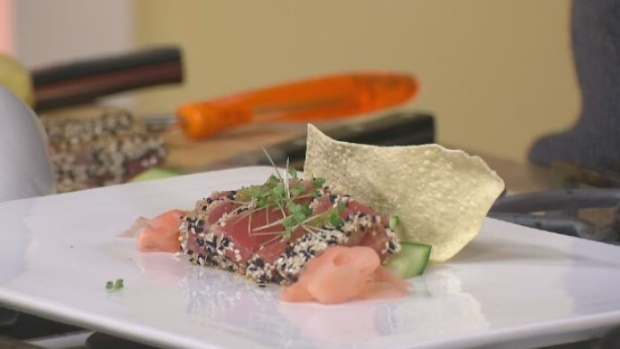 Wheatland Cafe: Sesame-crusted seared ahi tuna