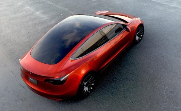 Tesla Model 3 electric sedan unveiled
