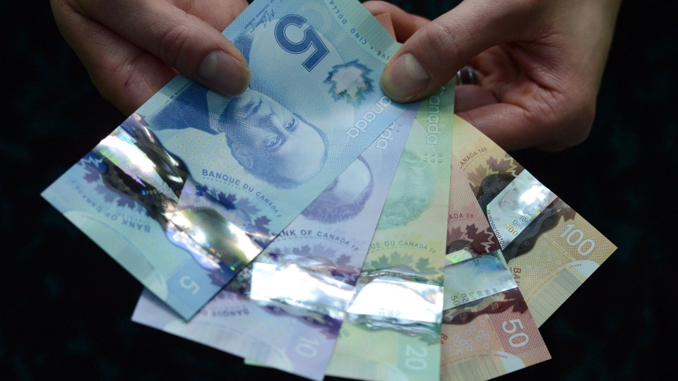 Polymer bank notes are shown during a news conference at the Bank of Canada in Ottawa on April 30, 2013. (THE CANADIAN PRESS/Sean Kilpatrick)