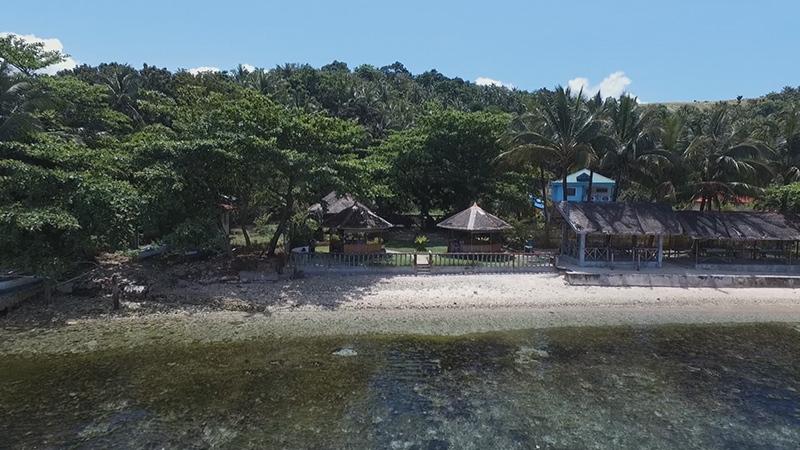 The scene of the crime at Palma Beach Resort in Surigao City, Philippines