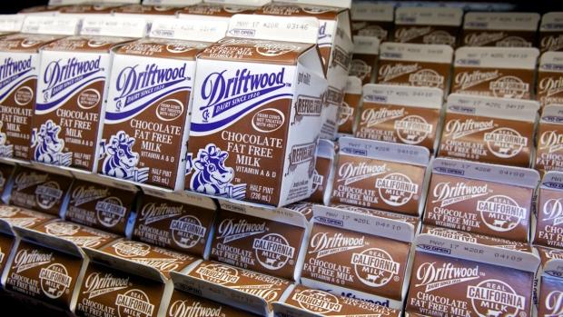 Chocolate milk cartons