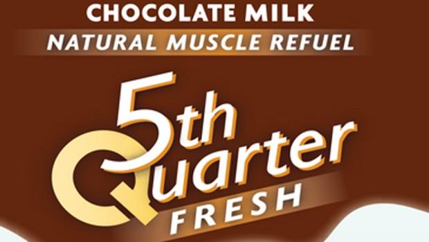 Fifth Quarter chocolate milk label