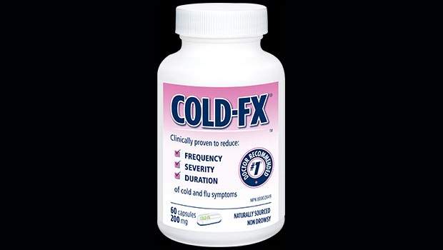 A bottle of the cold and flu remedy, Cold-fX