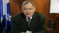 Jacques Parizeau recorded speeches on Oct. 30, 1995 to be broadcast worldwide in the event Quebec voted 'Yes'