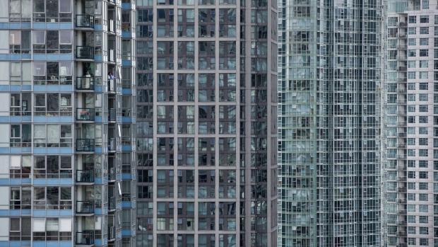 Condominium towers in Yaletown