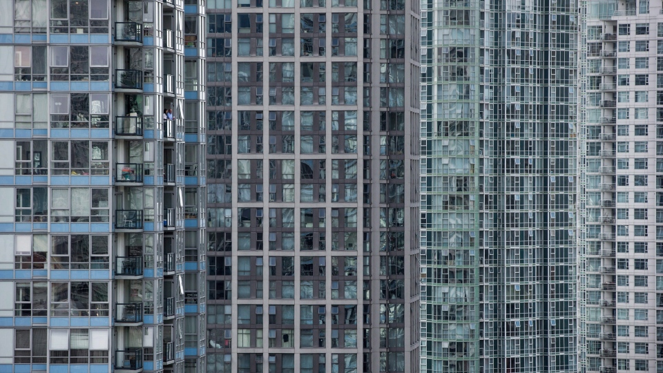 Condominium towers in Yaletown in Vancouver, B.C., on Monday, Sept. 14, 2015. (THE CANADIAN PRESS/Darryl Dyck)
