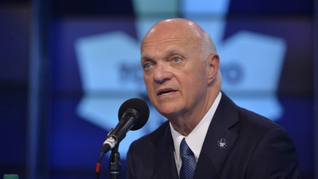 Lou Lamoriello in Toronto