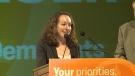 New Democrat Nicole Sarauer was declared the winner in Regina Douglas Park in Monday night's provincial election.