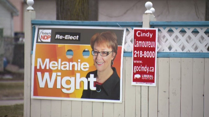 NDP incumbent Melanie Wight and newcomer, Liberal candidate, Cindy Lamoureux are both familiar faces in Burrows.