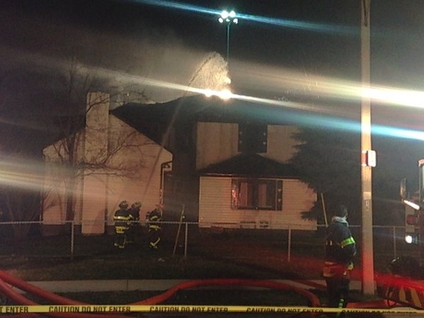 Windsor Firefighters battle a blaze at a vacant home on Indian Road on Tuesday, April 5, 2016. (Christie Bezaire / CTV Windsor)