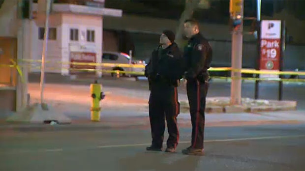 Police are continuing to investigate a sudden death in downtown Calgary on April 6, 2016.