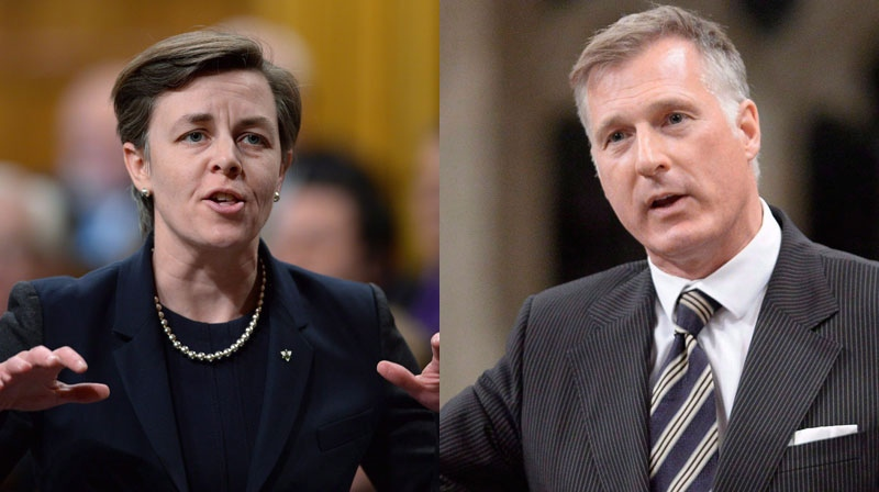 Ontario MP Kellie Leitch and Quebec MP Maxime Bernier are throwing their hats in the ring for the 2017 federal Conservative leadership race. (THE CANADIAN PRESS)