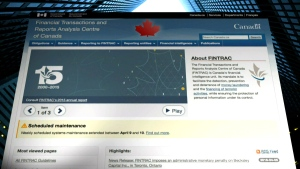 The federal Financial Transactions and Reports Analysis Centre of Canada is seen in this file photo.