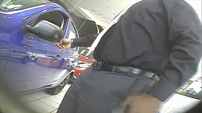 Screen shot of an undercover video at a dealership
