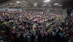 A crowd fills the arena in Inverness, Nova Scotia, waiting for the Chase the Ace draw to start on Oct. 4, 2015. (Darren Pittman / The Canadian Press)