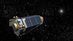 An undated artist's concept provided by NASA shows the Kepler Spacecraft moving through space. (AP / NASA)