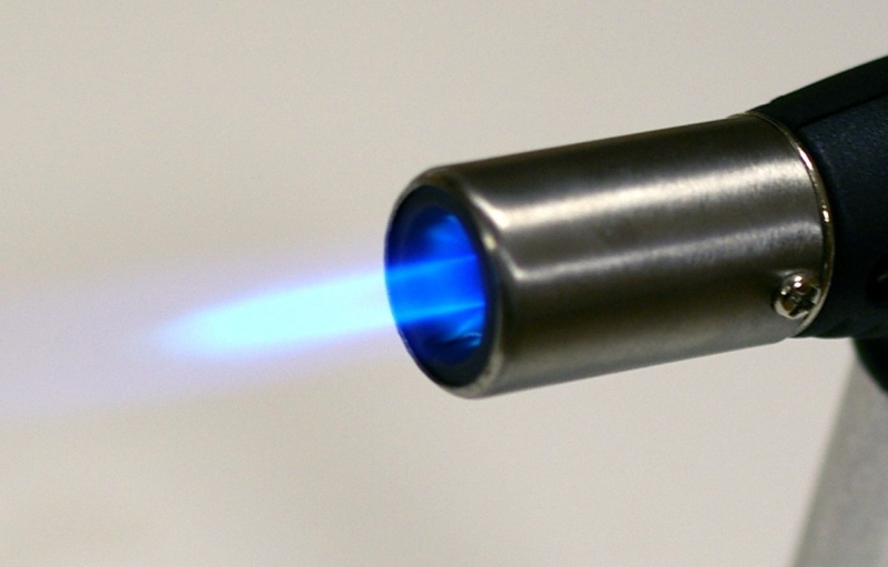 butane powered flame
