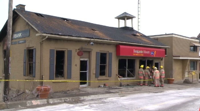Business gutted by fire in downtown Ayr