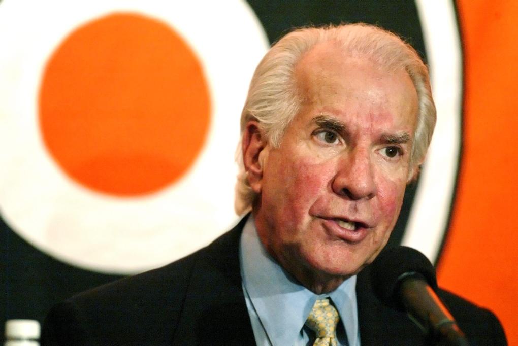 Philadelphia Flyers' owner Ed Snider in 2004