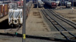 Saskatoon's CN Rail yard is seen here on Sunday, April 10, one day after a 16-year-old boy was found dead at the tracks.