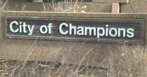 'City of Champions' sign