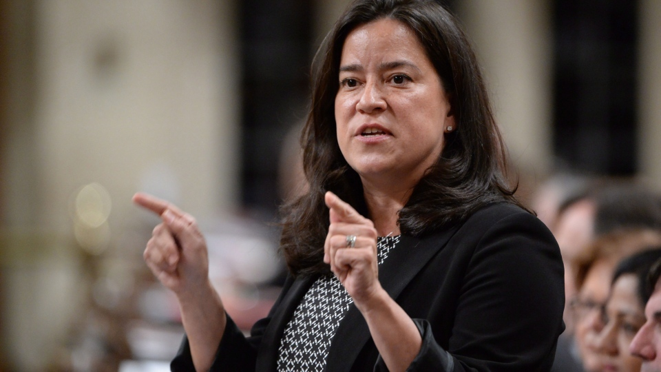 Justice Minister Jody Wilson-Raybould answers a question during Question Period in the House of Commons in Ottawa, Monday, April 11, 2016. THE CANADIAN PRESS/Adrian Wyld