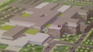 An artist rendering of mega-hospital for Windsor-Essex. (CTV Windsor)