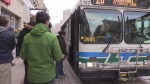Londoners wait to board a LTC bus on Monday, April 11, 2016. (Daryl Newcombe / CTV London)