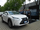 Lexus celebrates selling its 1,000,000th hybrid vehicle. (AFP)