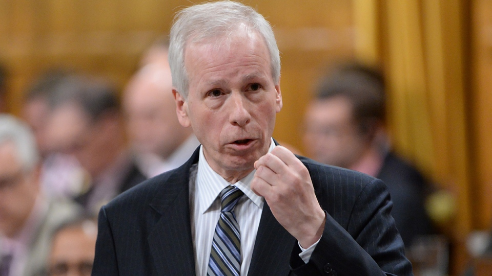 Foreign Affairs Minister Stephane Dion speaks