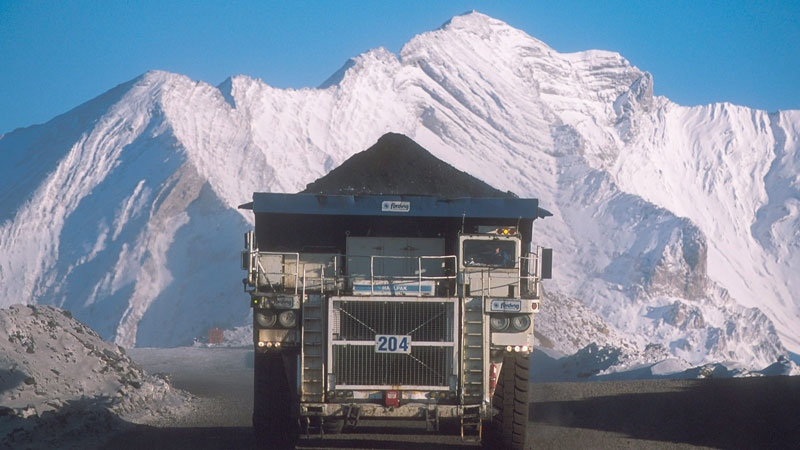 A truck hauls a load at Teck Resources Coal Mountain operation near Sparwood, B.C. in a handout photo. (Teck Resources)