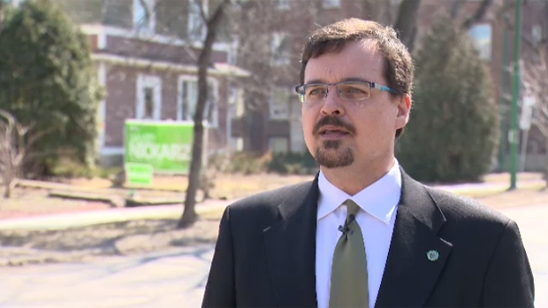 The Greens' best shot of winning a seat could be in Wolseley, where the party finished in second place in the last three elections. The Green candidate in Wolseley is David Nickarz.